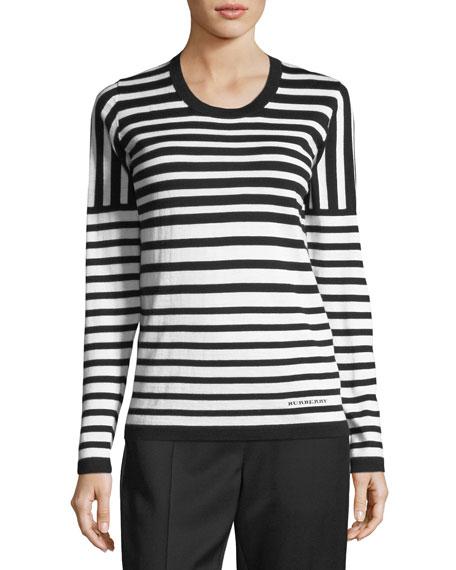 Mixed Merino Striped Sweater