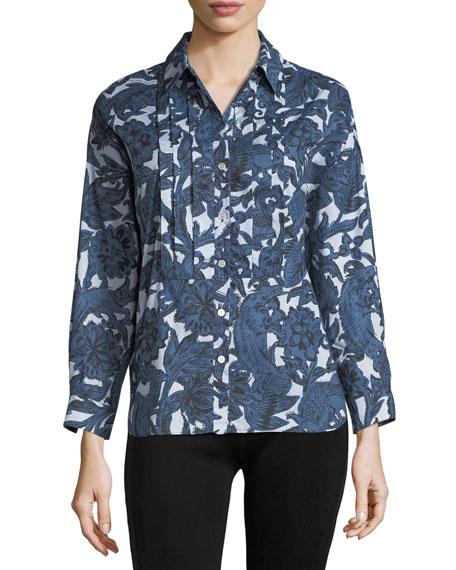 Posy Printed Bib Shirt
