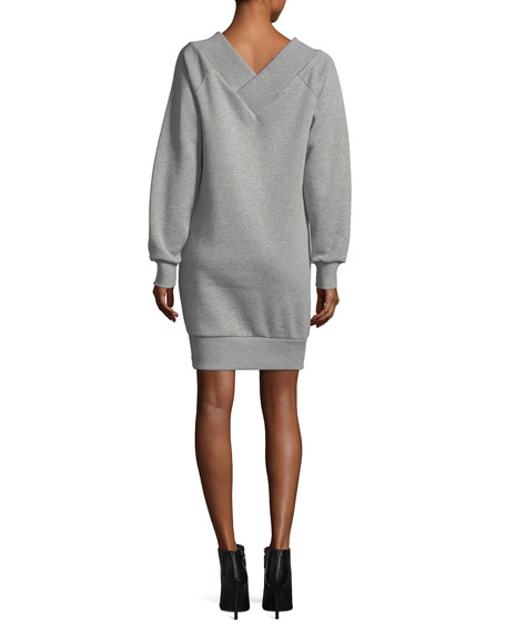 Taro Fleece V-Neck Dress
