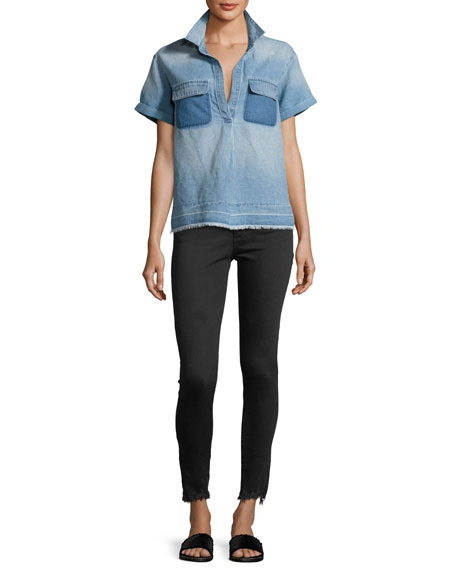 The Farrah Ankle High-Rise Skinny Jeans