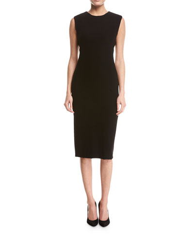Power Crepe Sheath Dress