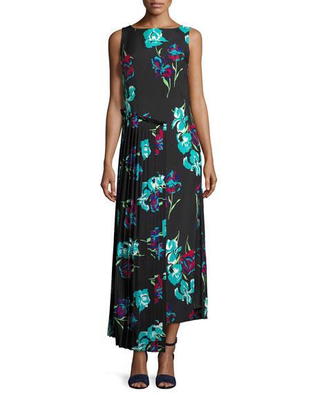 Sleeveless Floral-Printed Maxi Dress