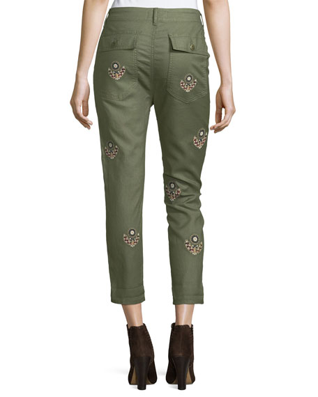 The Slouch Army Pants W/ Embroidery