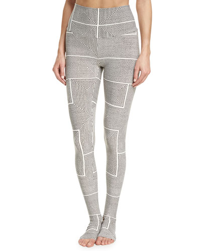 Kaleidoscopic Full-Length Footie Leggings