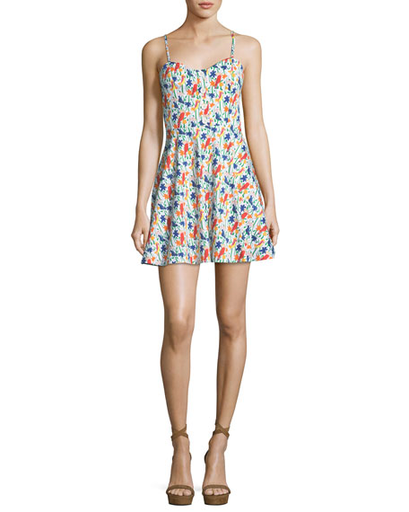 Nella Button-Front Sleeveless Mini Dress