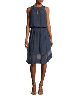 Quinn High-Neck Sleeveless Dress