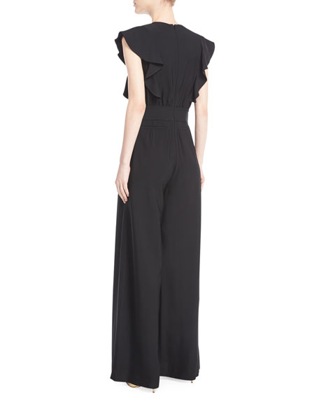 Regan Viscose Twill Wide-Leg Jumpsuit