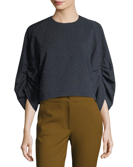 Imogen Crewneck Gathered Top