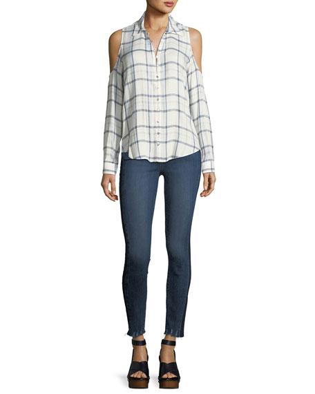 Verdugo Ultra-Skinny Ankles Jeans w/ Side Stripe