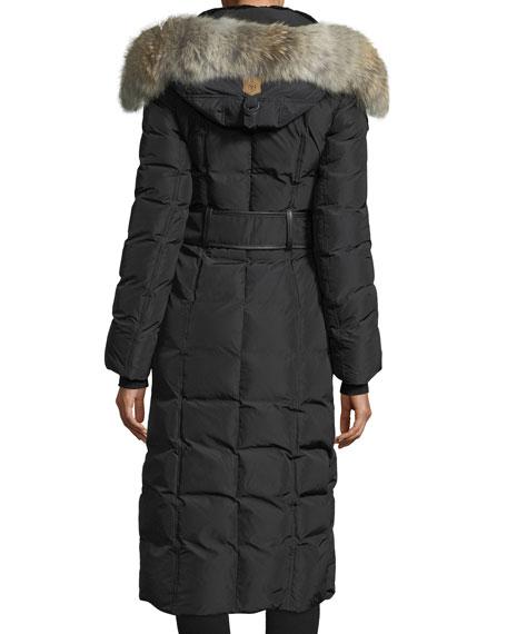Jada Long-Sleeve Covered Placket w/ Fur Hood