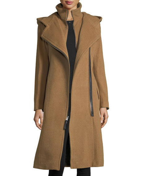 Janya Tailored Hooded Coat w/ Removable Bib