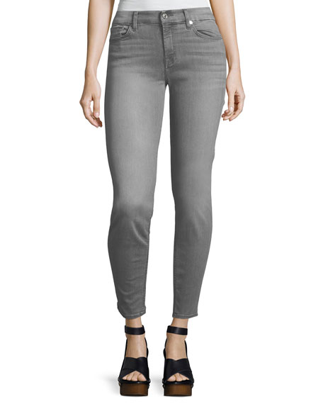 The Skinny Mid-Rise Faded Jeans