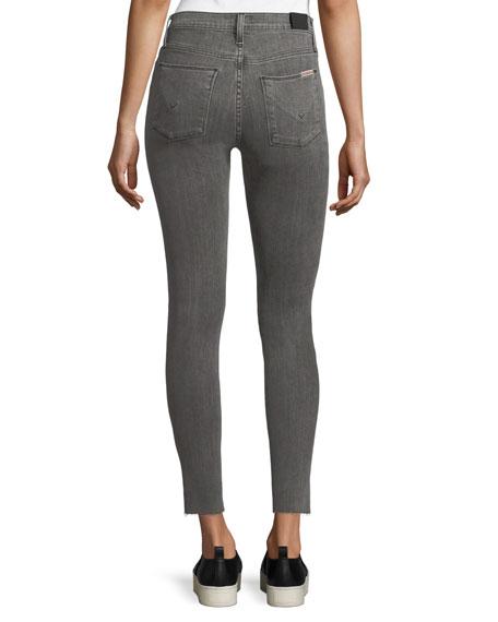 Nico Mid-Rise Ankle Super Skinny Jeans w/ Raw Hem
