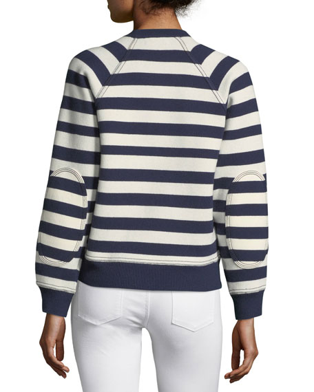 Selune Striped Logo Intarsia Sweater