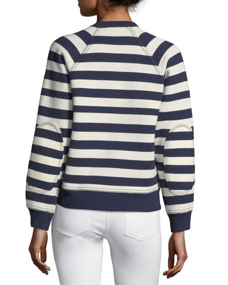 Selune Striped Logo Intarsia Sweater