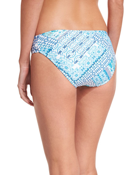 Blue Bazaar Ruched-Side Retro Swim Bikini Bottom