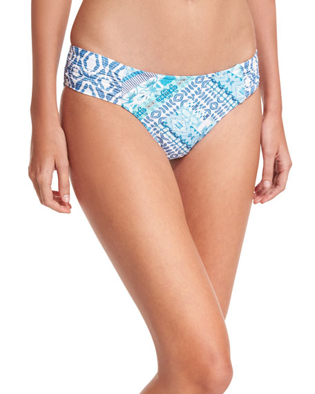 Blue Bazaar Ruched-Side Retro Swim Bottom