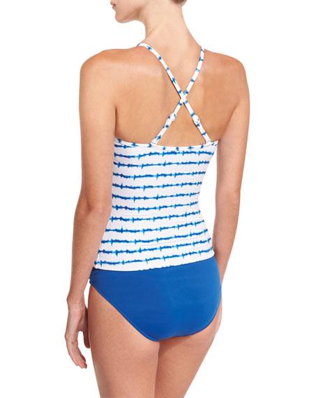 Mandala Twist-Front Halter Tankini Swim Top