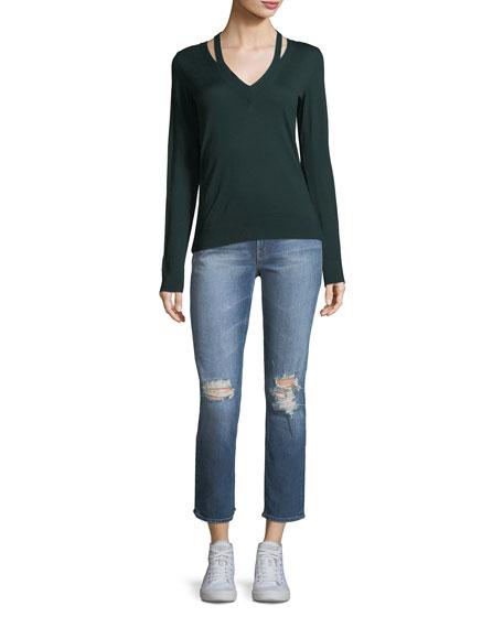 Dazzler Destroyed High-Waist Skinny-Leg Jeans