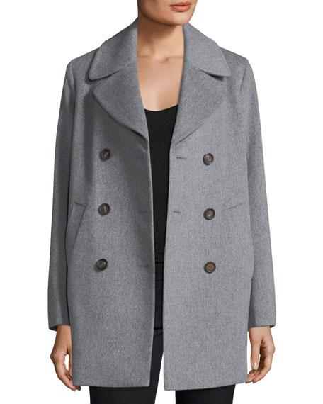 Double-Breasted Wool Boyfriend Pea Coat