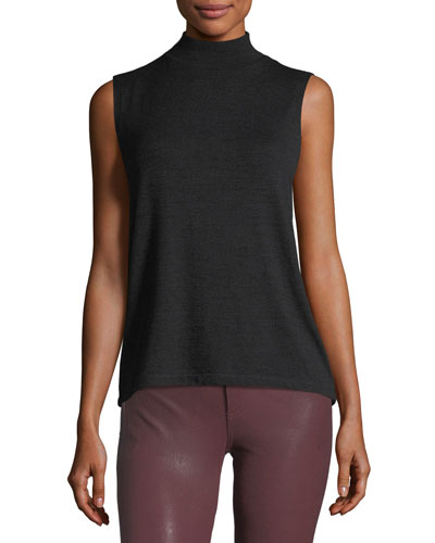 Thea Mock-Neck Sleeveless Tank