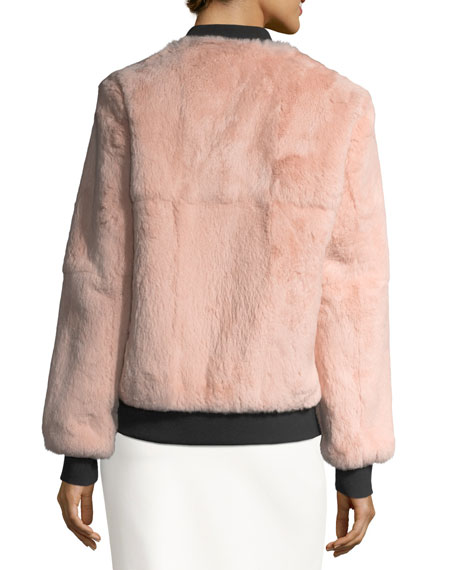 Corban Fur Reversible Bomber Jacket