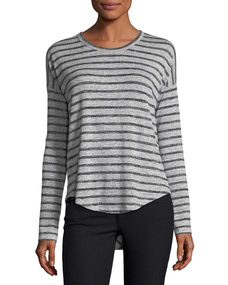 Hudson Crewneck Long-Sleeve Striped Top