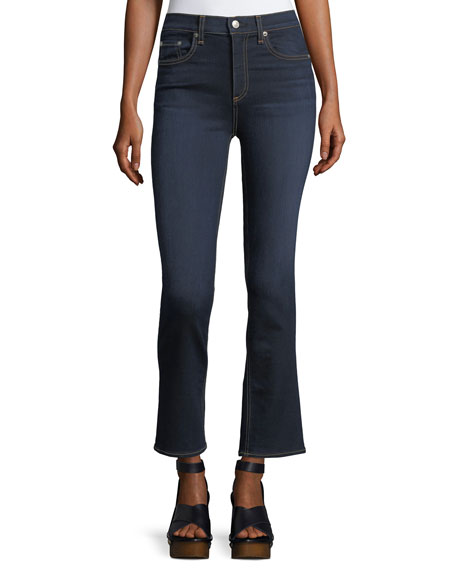 Hana High-Rise Cropped Boot-Cut Denim Jeans
