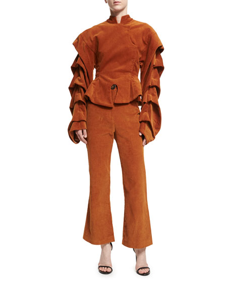 Octopus Flared Corduroy Trousers