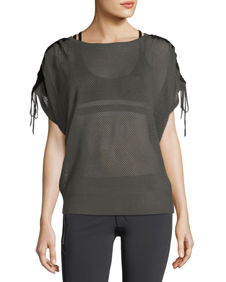 Blanc Noir Sea Breeze Mesh Performance Sweater