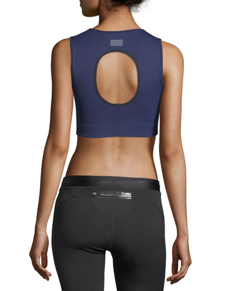 Athlete Crop Top w/ Cutout Back