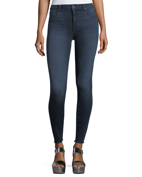 PARKER SMITH Bombshell Skinny Jeans In Deep Sea