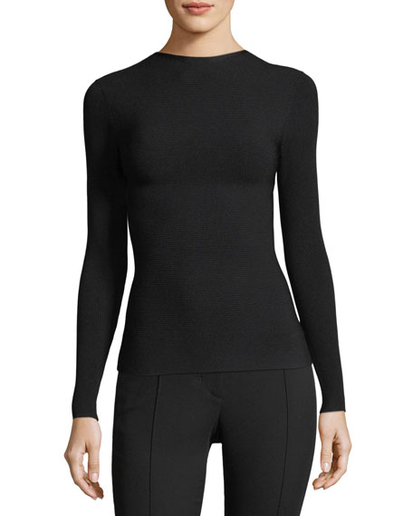 Technical Tie-Back Long-Sleeve Jersey Top