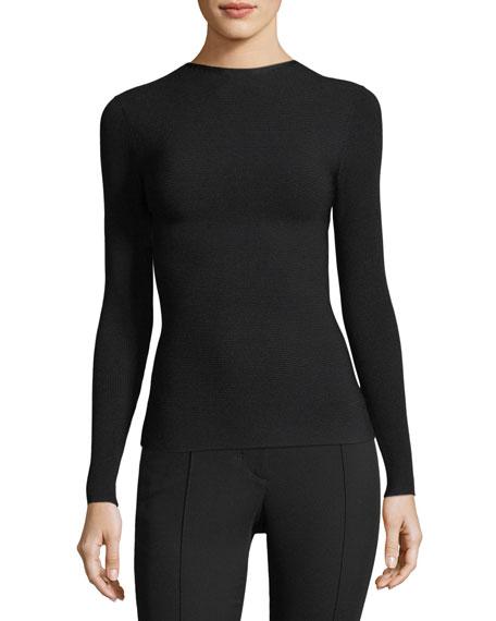 Technical Tie-Back Long-Sleeve Jersey Top