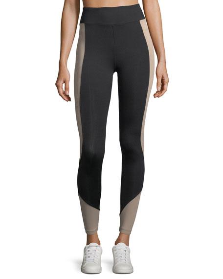Koral Activewear Curve Crop Color-Panels Performance Leggings