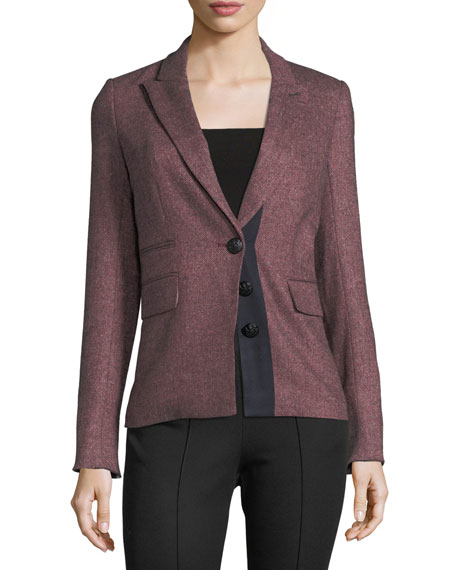 Sterling Placket Herringbone Tailored Jacket