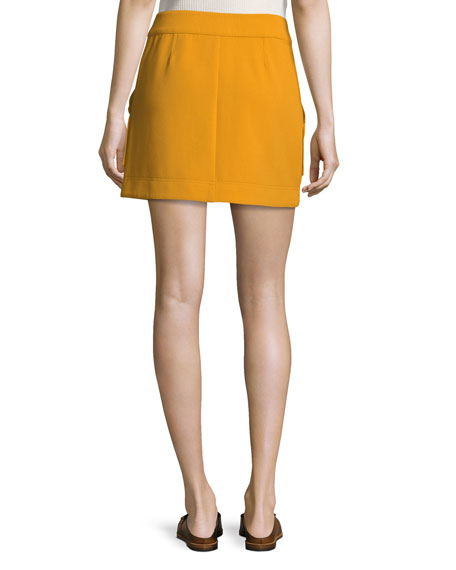 Monroe A-Line Button-Front Mini Skirt