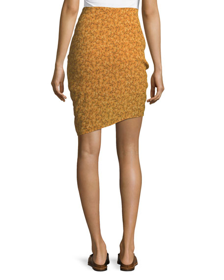 Spencer Ruched Zipper Skirt