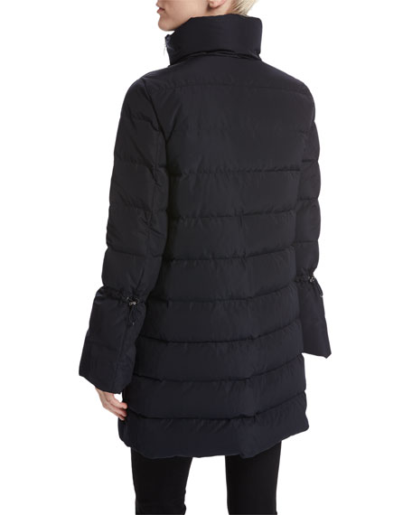 Lobelia Bell-Sleeve Puffer Coat