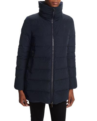Petrea Stand-Collar Puffer Coat