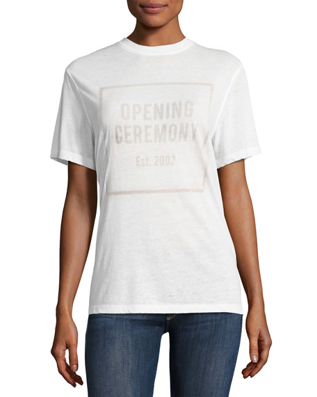 OC Logo Burnout Crewneck Short-Sleeve Tee