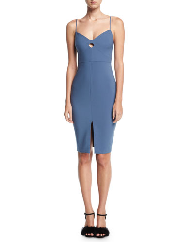 Denlan Keyhole Cocktail Dress