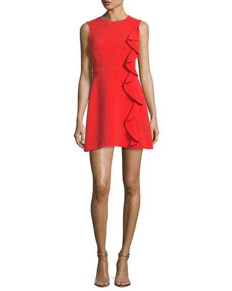 Krause Sleeveless Ruffled Cocktail Dress