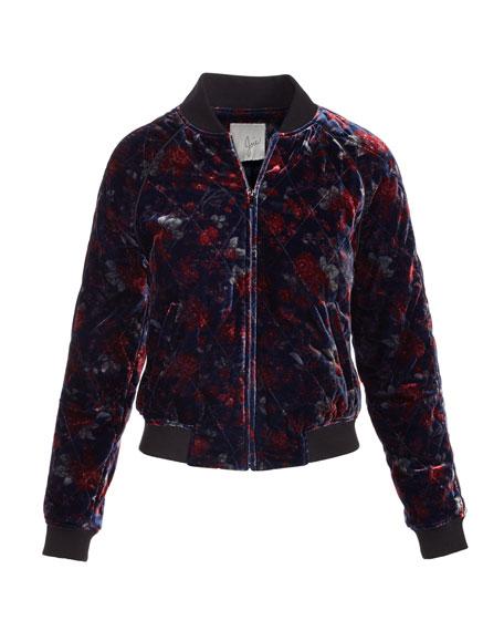 Mace Quilted Velvet Bomber Jacket