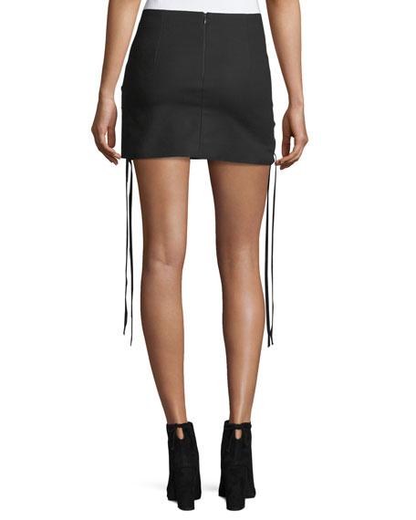 Corset Lace-Up A-Line Mini skirt