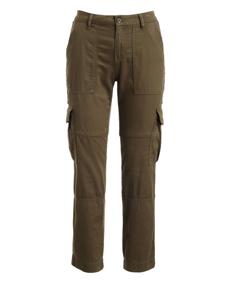 Cargo Pants w/ Embellished Side Stripe