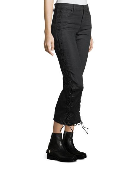 Selena Baroque-Print Pants