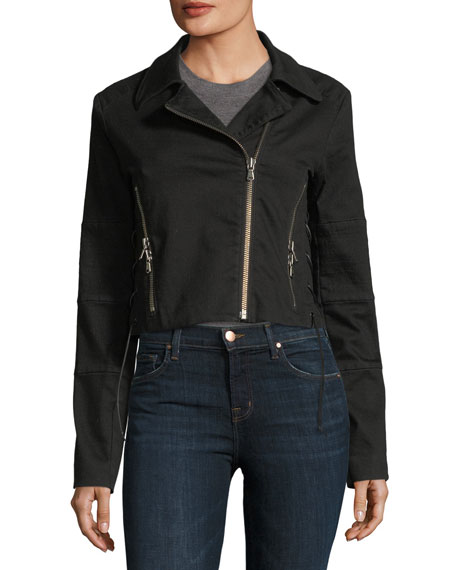 Aiah Cropped Zip-Front Jacket
