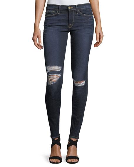 Le Skinny De Jeanne Distressed-Knee Skinny Jeans