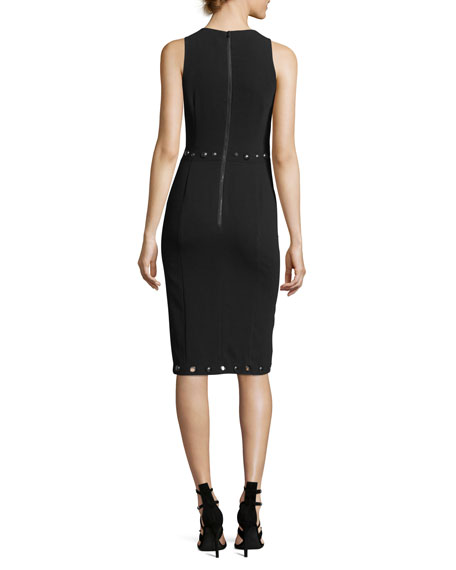 Fierce Frock Jewel-Neck Sleeveless Sheath Dress